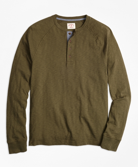 Slub Cotton Jersey Henley