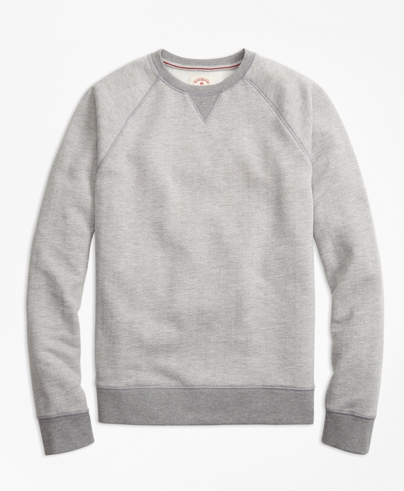 Herringbone Jacquard Sweatshirt Grey