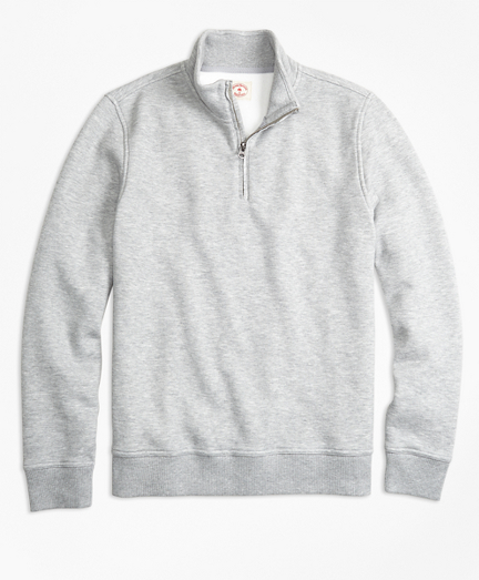 Half-Zip Pique-Fleece Sweatshirt