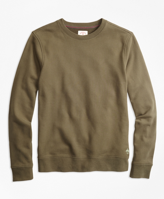 Cotton French Terry Sweatshirt Green