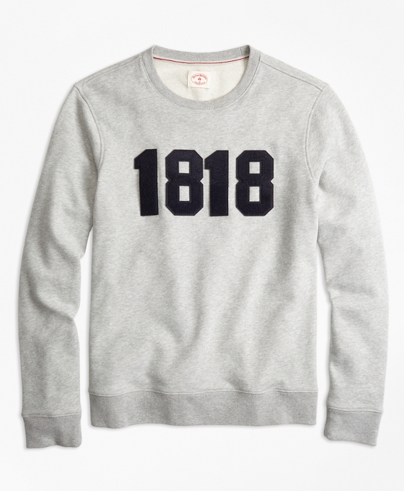 1818 Cotton French Terry Sweatshirt Grey