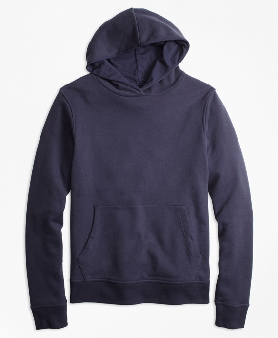 Cotton French Terry Hoodie Navy
