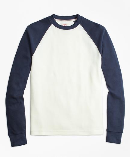 Waffle-Knit Cotton Baseball Shirt