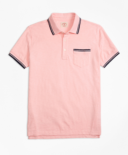 Slub Cotton Jersey Polo Shirt