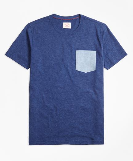 Floral Pocket Heathered Jersey T-Shirt