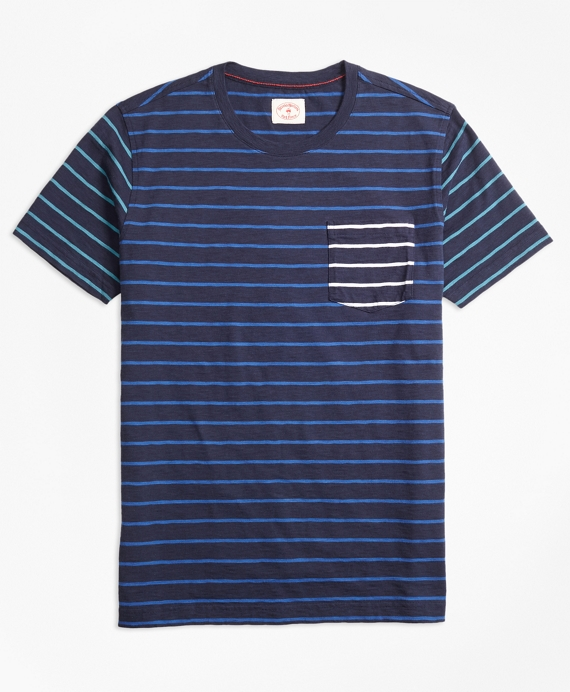 Stripe Slub Cotton Fun T-Shirt