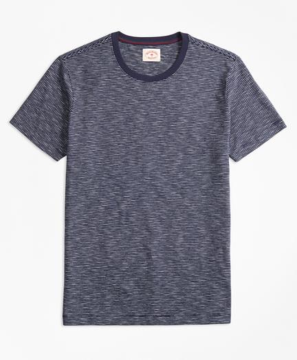 Feeder-Stripe Slub Cotton T-Shirt