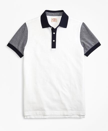 Colorblock Cotton Pique Polo Shirt