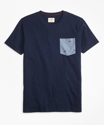 Printed Slub Cotton Pocket T-Shirt
