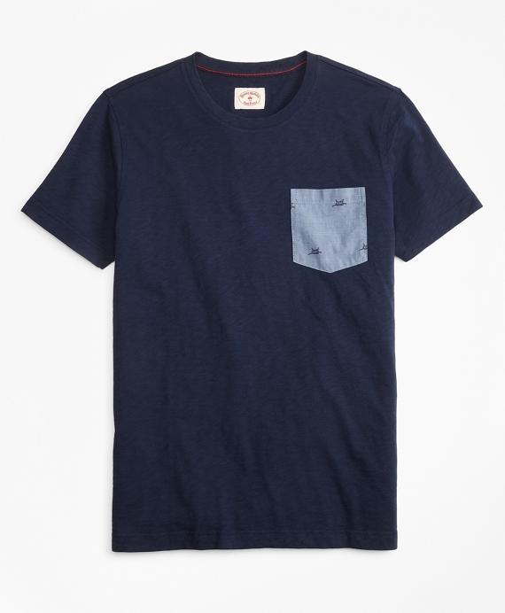 Printed Slub Cotton Pocket T-Shirt