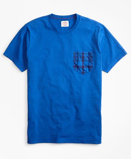 Cotton Jersey Woven-Pocket T-Shirt