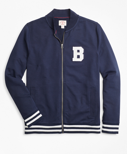 French Terry Letterman Lightweight Baseball Jacket