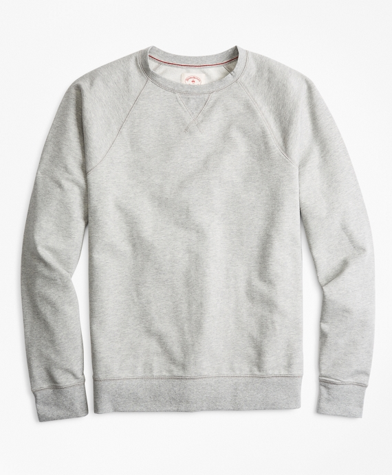 French Terry Crewneck Sweatshirt Grey