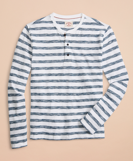 Striped Cotton Henley
