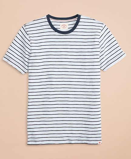 Alternating-Stripe Slub Cotton Jersey T-Shirt