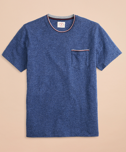 Striped Tipping Pocket T-Shirt