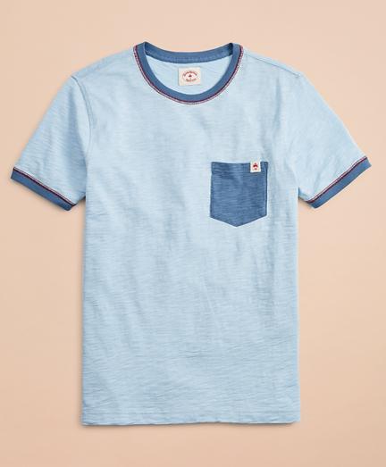 Slub Cotton Jersey Contrast T-Shirt