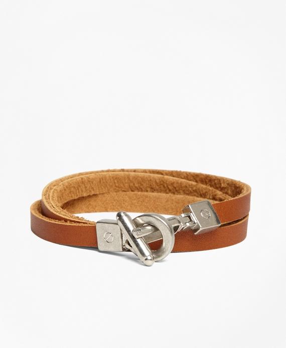 Leather Wrap-Around Bracelet