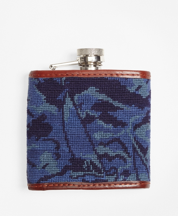Camouflage Needlepoint Flask by Brooks Brothers