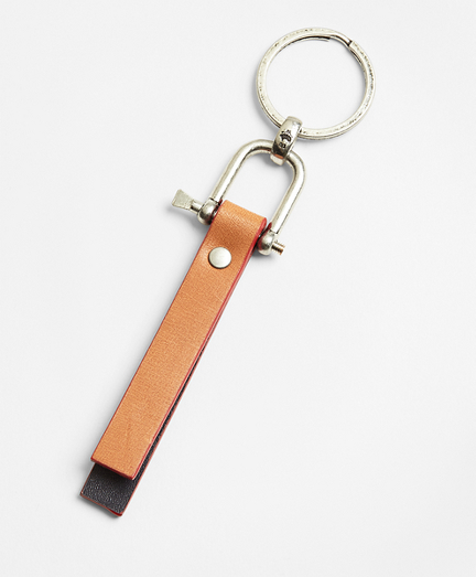 Leather Stripe Key Fob