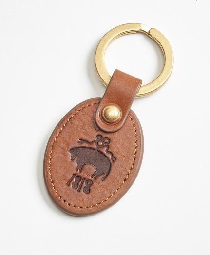 Leather Logo Key Fob
