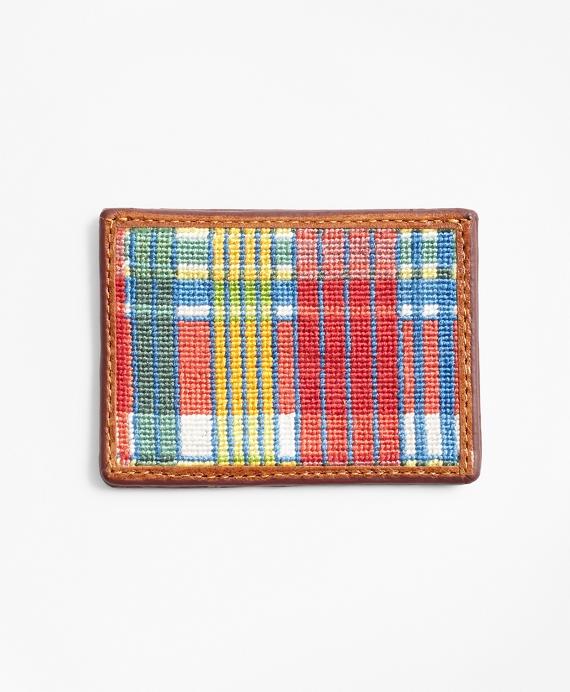 Madras Needlepoint Card Case
