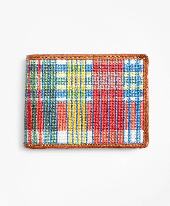 Madras Needlepoint Wallet Multi