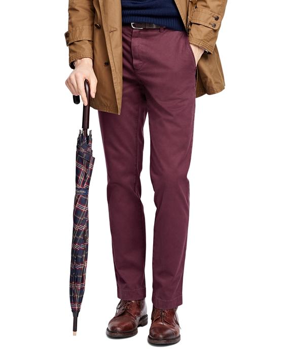 Garment-Dyed Chinos Burgundy