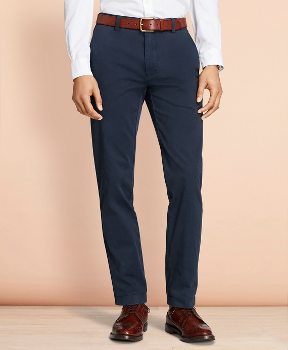 Garment-Dyed Chinos Navy