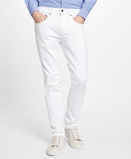 116 Slim Fit White Denim Jeans