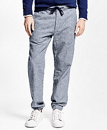 Linen Chambray Sweatpants