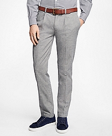 Slim-Fit Brushed Twill Pleat-Front Chinos