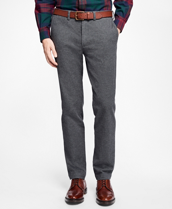 Brushed-Flannel Stretch Chinos Grey