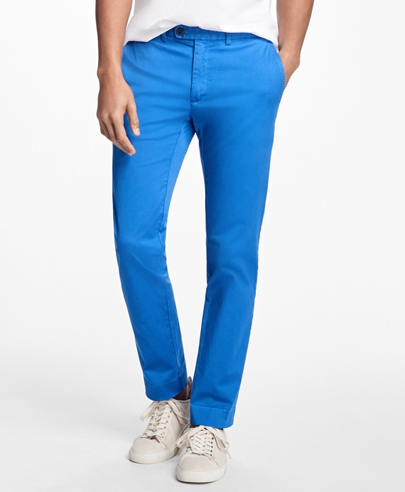 Slim-Fit Lightweight Stretch Chinos Blue