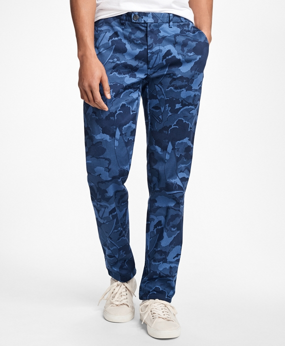 Slim-Fit Camo-Print Stretch-Cotton Chinos