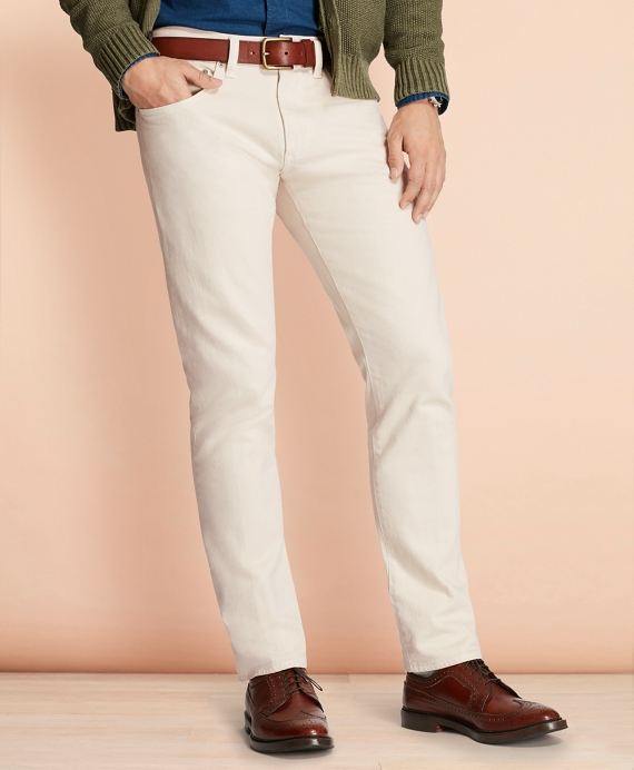 Slim-Fit Garment-Dyed Jeans