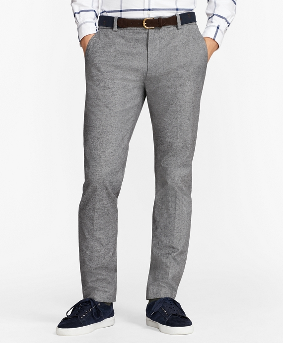 Heathered Stretch-Twill Chinos