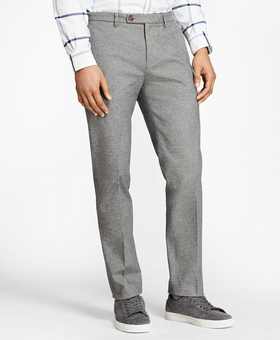 Slim-Fit Heathered Stretch-Twill Chinos