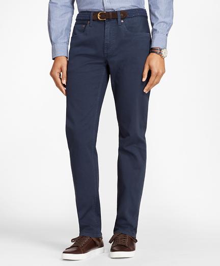 Garment-Dyed Cotton Canvas Jeans