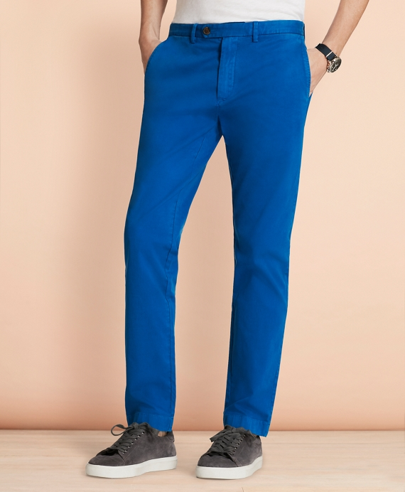 Slim-Fit Garment-Dyed Stretch Chinos