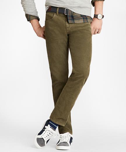 Garment Dyed Five-Pocket Corduroys