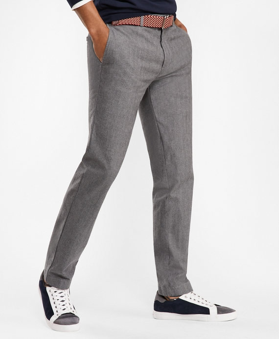 Slim Herringbone Twill Chinos Grey
