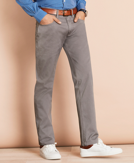 Herringbone Five-Pocket Pants