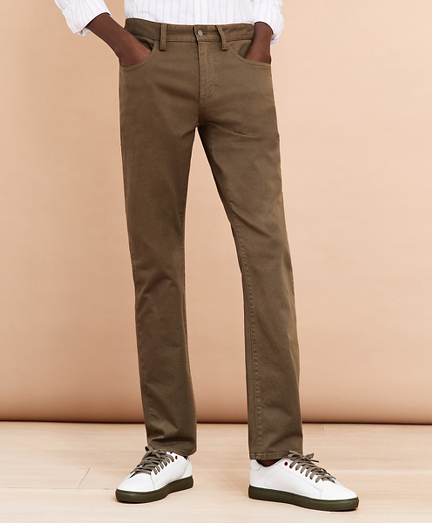 Five-Pocket Stretch Denim Pants