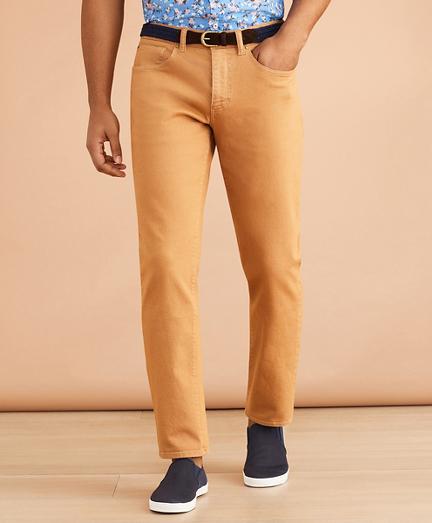 Garment-Dyed Five-Pocket Jeans