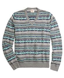 Fair Isle V-Neck Sweater