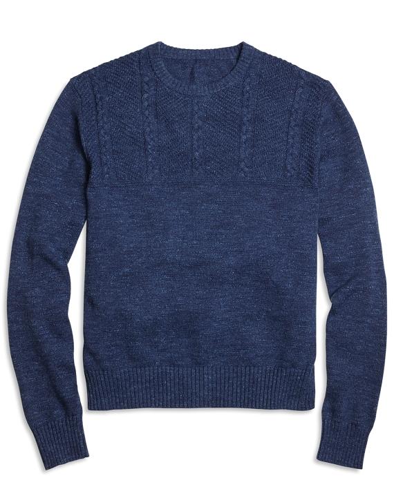 Half-Cable Crewneck Sweater