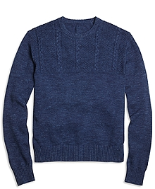 Half-Cable Crewneck Sweater