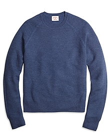 Merino Wool Honeycomb Crewneck Sweater
