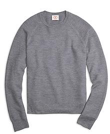 Merino Wool Honeycomb Crewneck Sweater